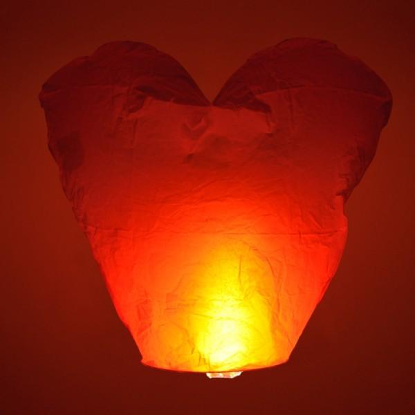 Wensballonnen hartvorm rood