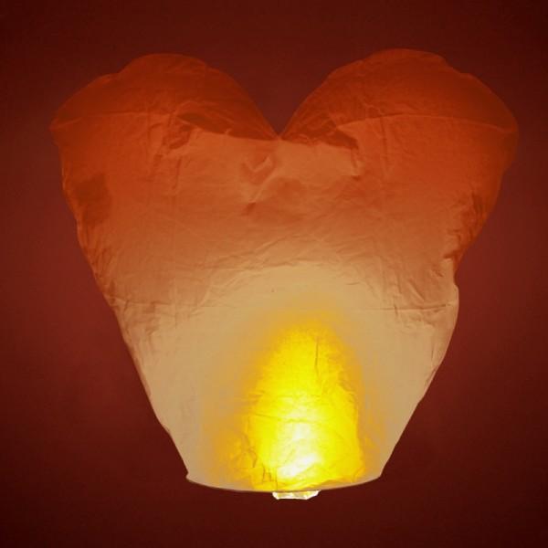 Wensballonnen hartvorm wit